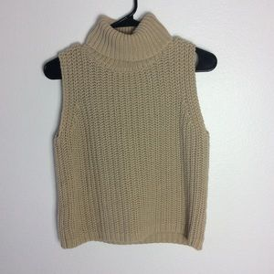Express | Turtleneck Knit Sleeveless Shirt Sz M